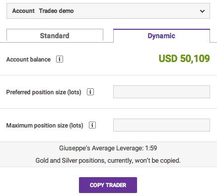 Tradeo Risk Management Screenshot